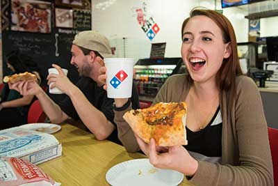 Students at Dominos-Stingers