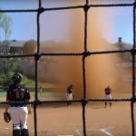 On-field dust devil turns heads across the nation