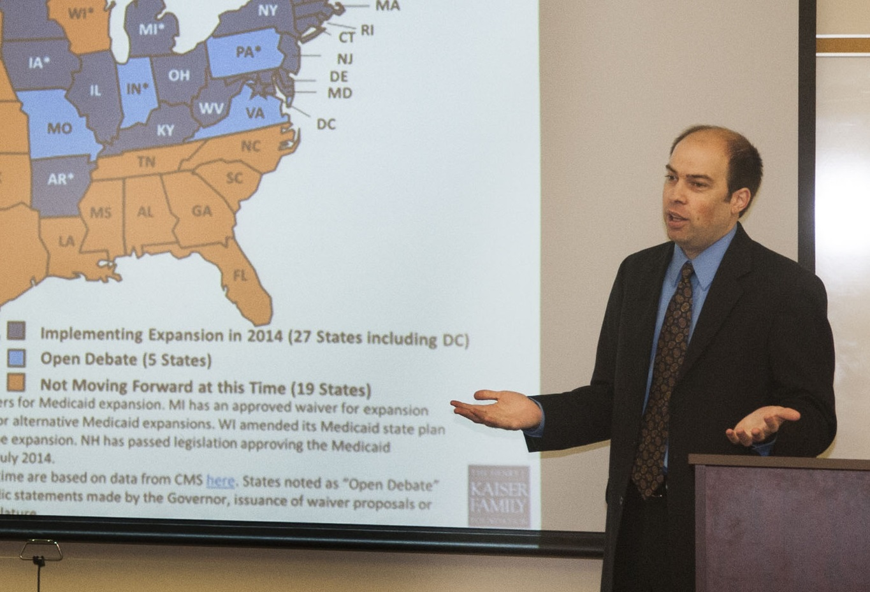 Professor Gerald Prante giving a presentation