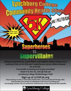 LCCHC 5k Superheroes versus Villains 5k Run/Walk @ Shellenberger Field | Lynchburg | Virginia | United States