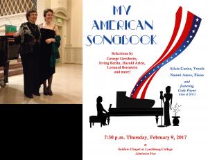 My American Songbook @ Snidow Chapel, Lynchburg College | Lynchburg | Virginia | United States