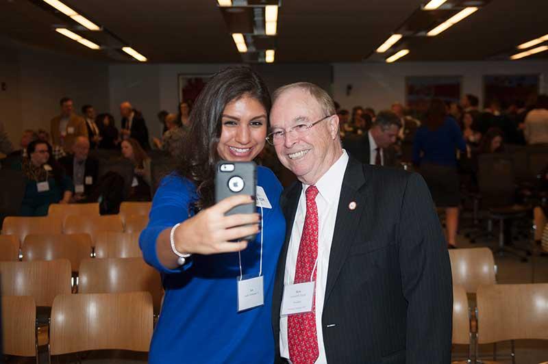 Alumna with Dr. Garren