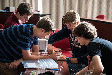 Students at Governor's School