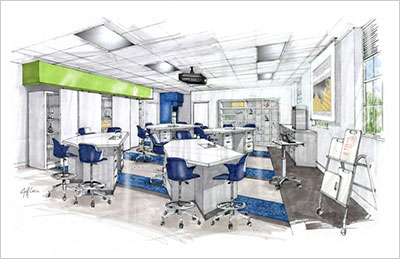 Hobbs-Sigler Hall Science Renovations Sketch