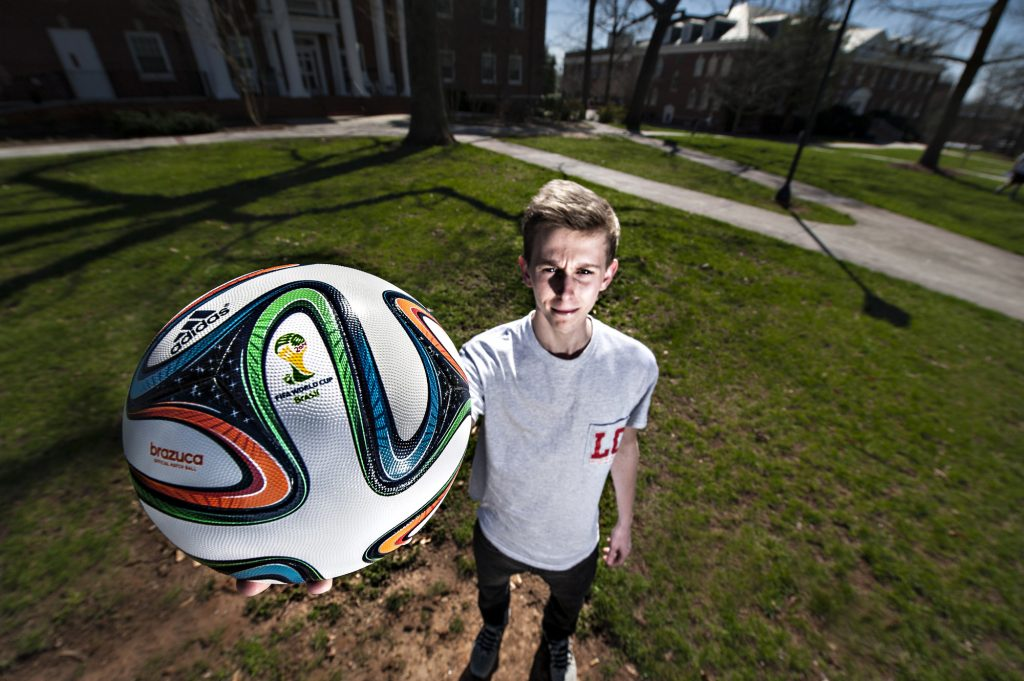 Chad Hobson with soccer ball