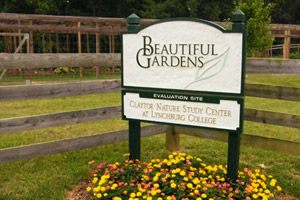 Beautiful Gardens sign, Horticulture Research Area