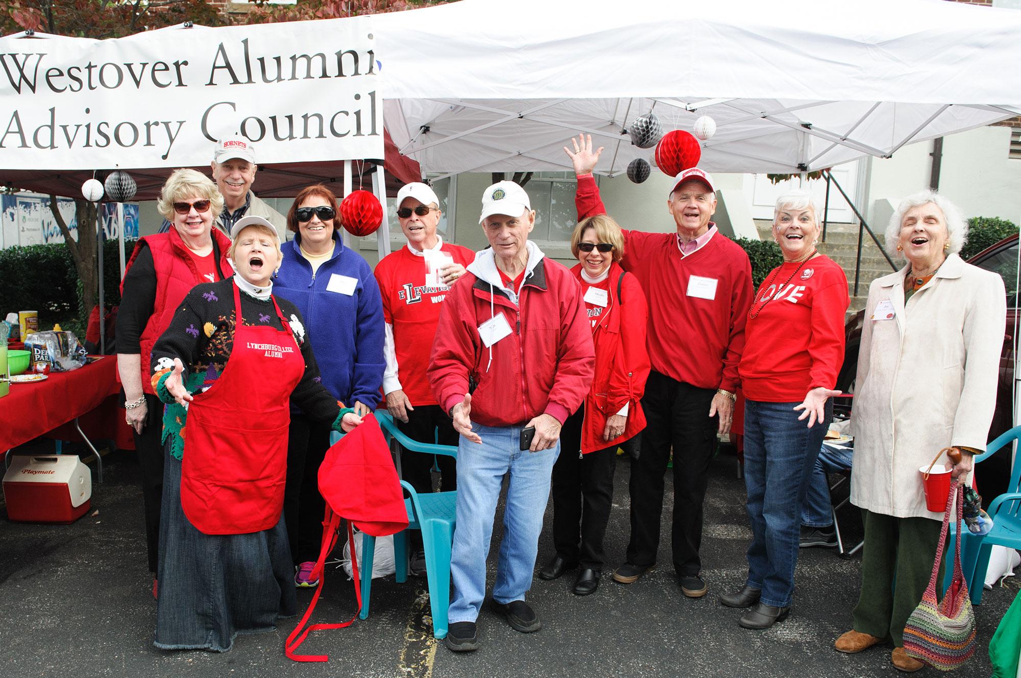 Group of Westover Alumni at Homecoming