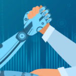 Robot arm wrestling human