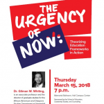 "Gilman Whiting will present ""the Urgency of now"" on March 15 at 7 p.m. in Memorial Ballroom."
