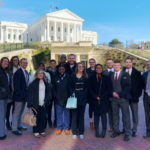 Athletic training students at the Virginia capitol