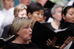 Members of the University of Lynchburg Choral Union