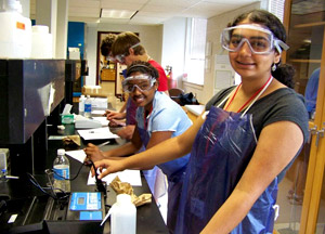 Students learn about chemistry at Governor
