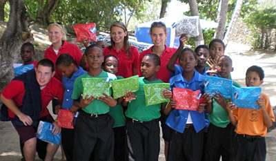LC students in St. Lucia