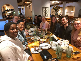 Latin Club celebration at the Olive Garden in May 2019
