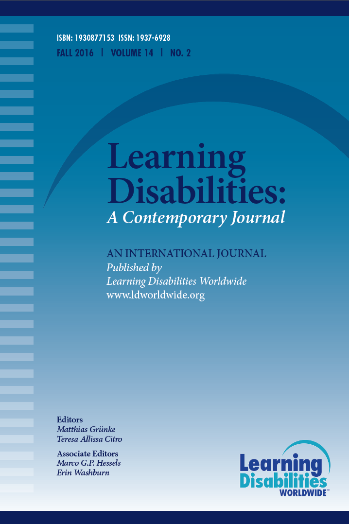 journal of learning disabilities Journal issue), congress has and treatment practices for children with learning disabilities definition of learning disability under the individuals with.