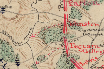 Part of a map of the Battle of Lynchburg