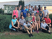 PA students working at Lynchburg Grows