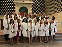 PA white coat ceremony in Snidow Chapel