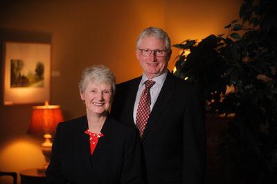 Dr. Alison Morrison-Shetlar and her husband, Dr. Robert Shetlar