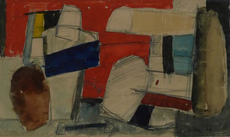 Jean Hélion, Untitled, mixed media, 1942. Collection of the Daura Gallery.