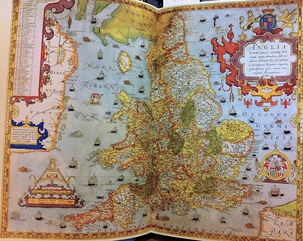 Image of old map of England