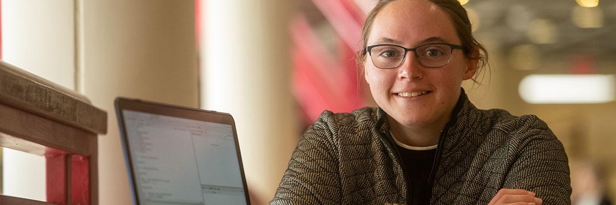 Caitlin Dorsch '20, criminology major, and history and sociology double minor