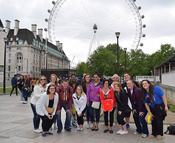 Criminology students in Europe with Dr. Kim McCabe