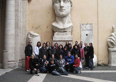 Group of students in Rome on a study abroad trip