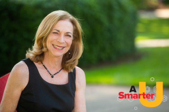 Picture of Kathrine Switzer with A Smarter U logo