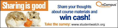 Course materials survey banner