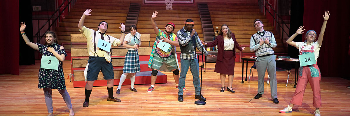 """A 2019 production of """"The 25th Annual Putnam County Spelling Bee."""""""