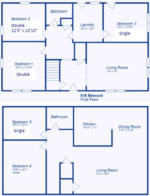 Floor plan for transfer house
