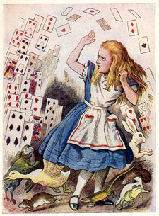 Alice with Collapsing Cards
