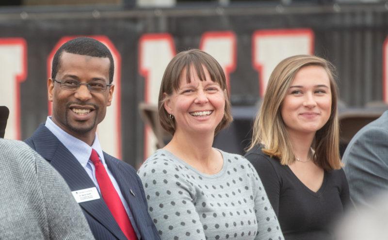 Aaron Smith, Kristen Cooper, and Lauren Adkins