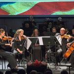 The university of Lynchburg wind symphony performs